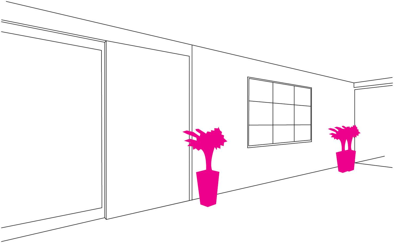 エントランス - インフォメーション鉢植えの設置場所