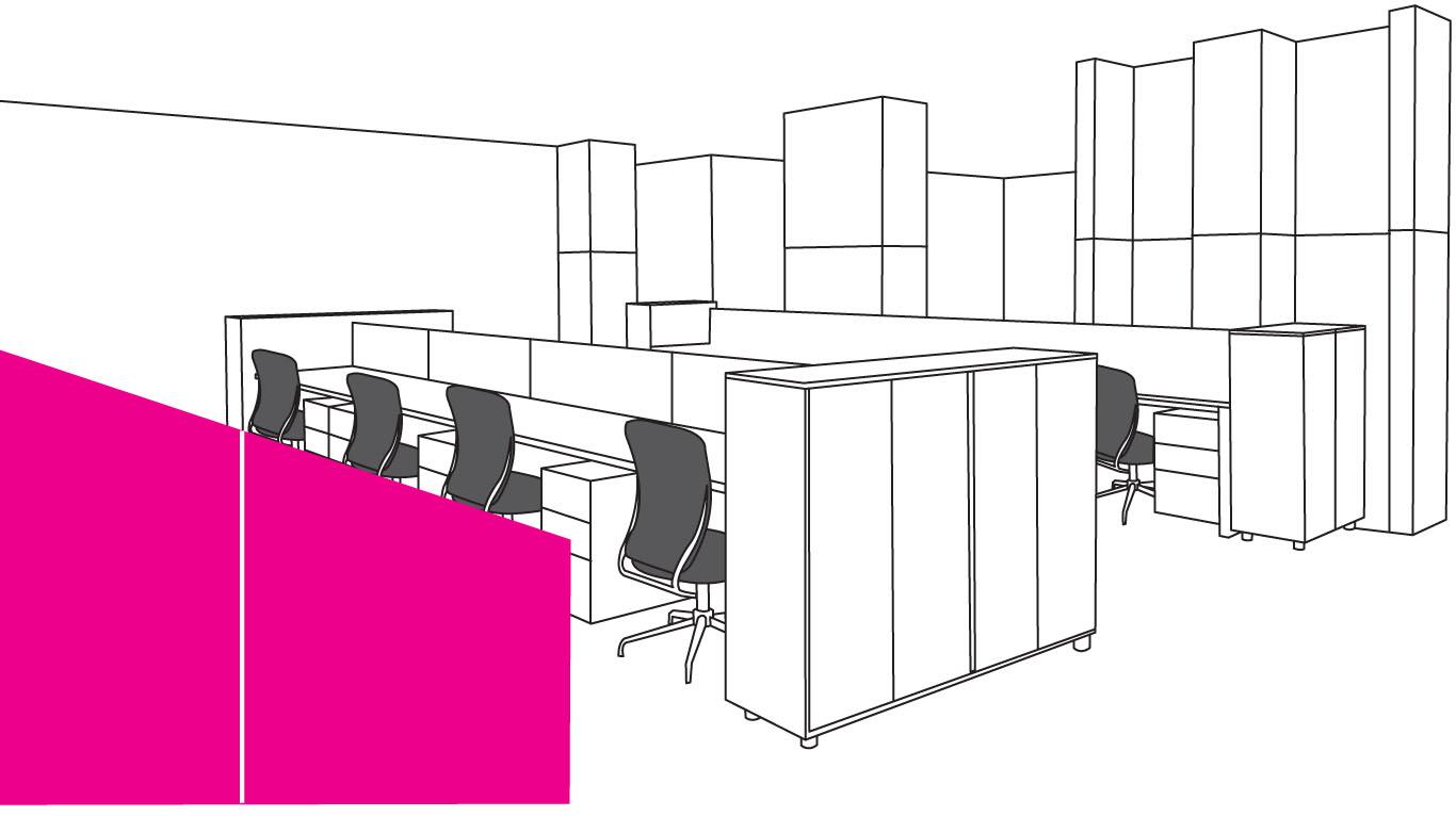 事務所 - ワークスペースの設置場所