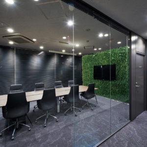 イミテーショングリーン会議室 - ミーティングルームの施工例_after