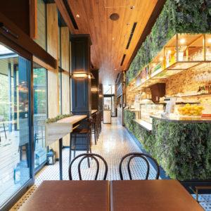 イミテーショングリーンカフェレストラン - カウンターの施工例_after
