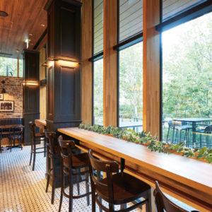 イミテーショングリーンカフェレストラン - 窓側席の施工例_after