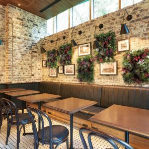 イミテーショングリーンカフェレストラン - 壁際席の施工例_after