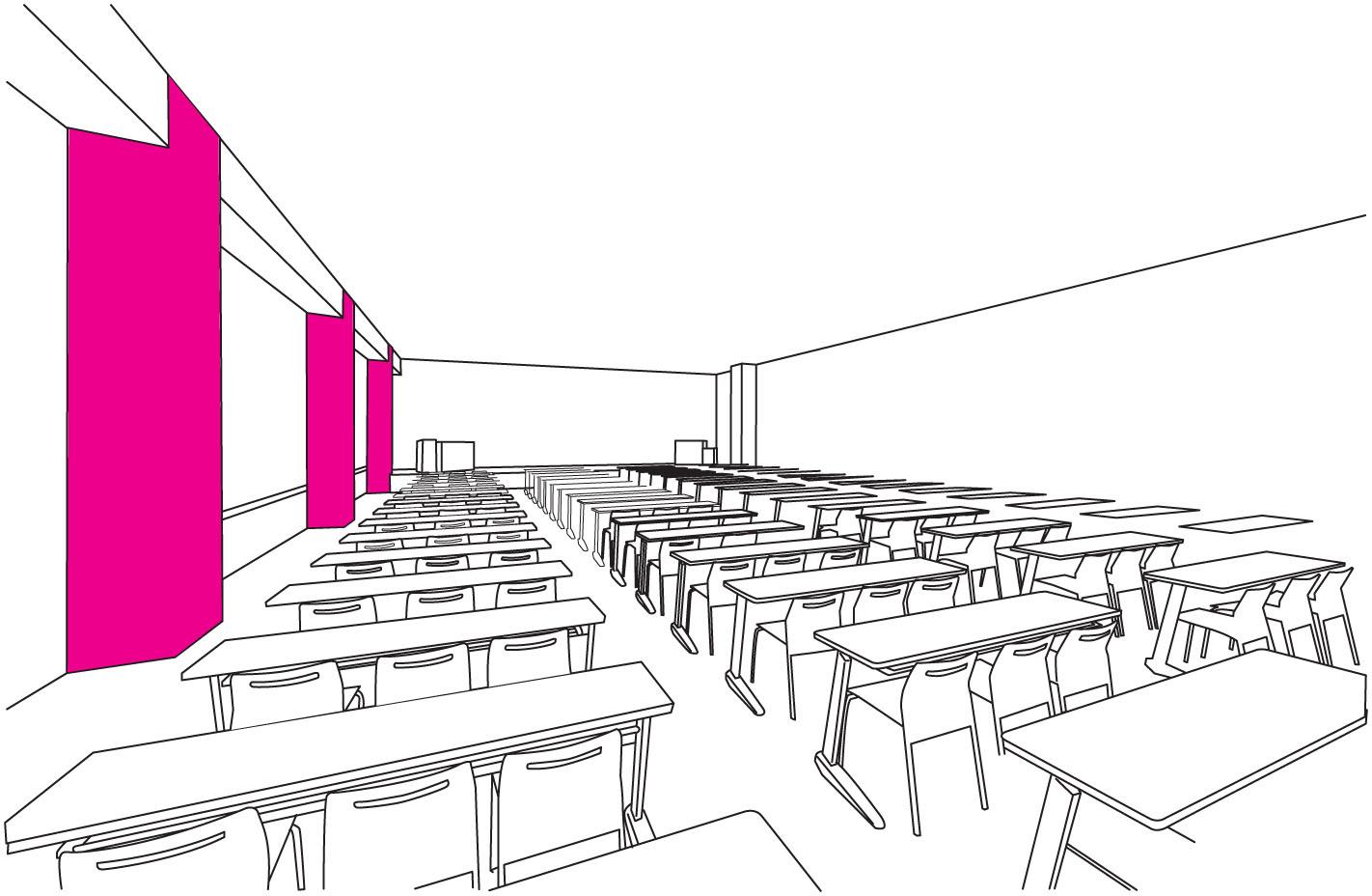 学校 - 講義室の設置場所