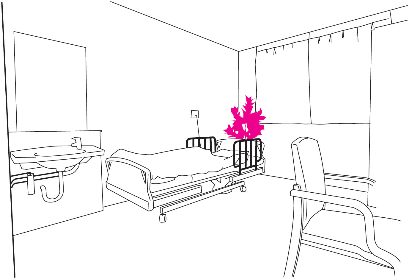 介護施設 - 個室の設置場所