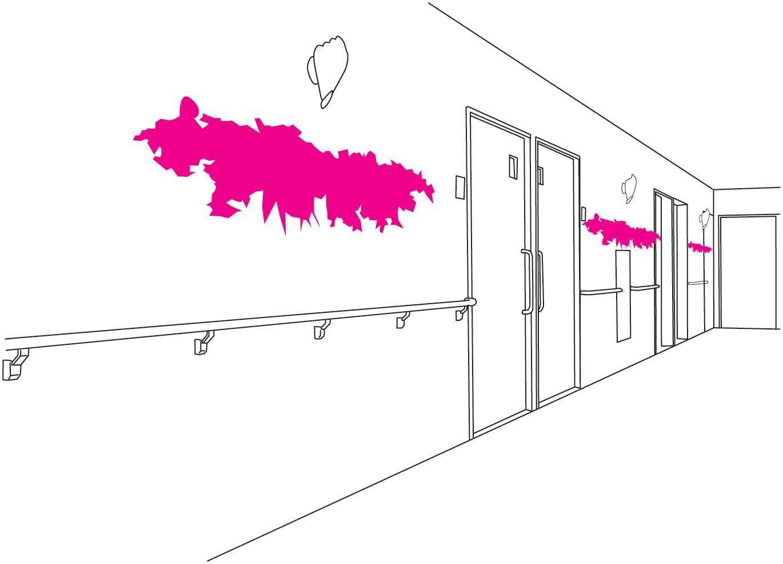 介護施設 - 廊下の設置場所