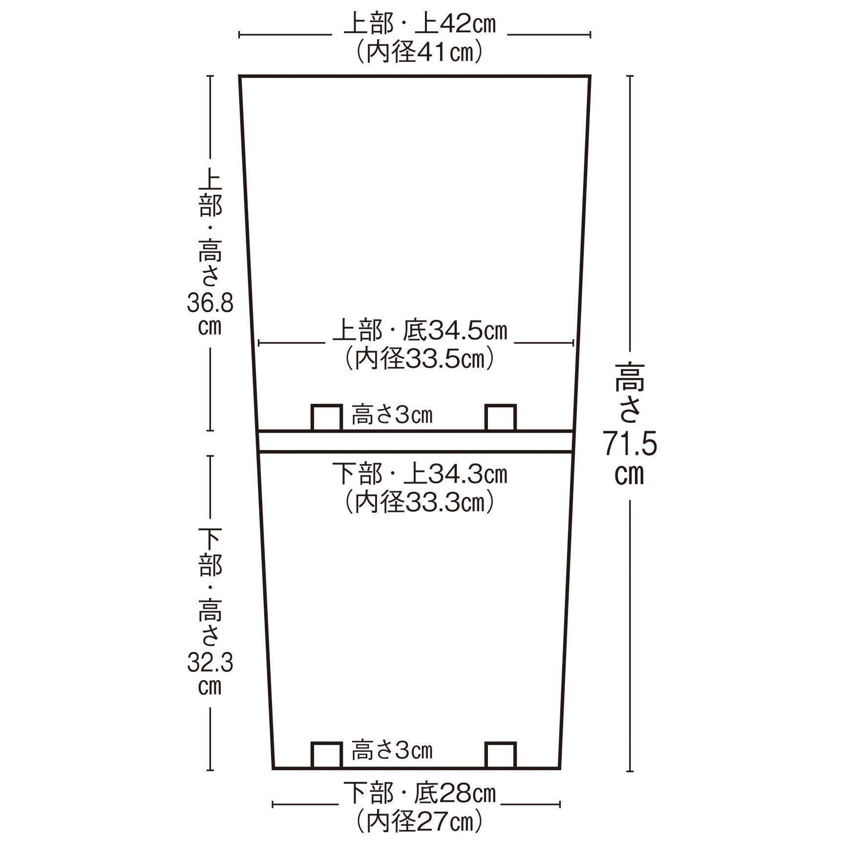 植木鉢(フラワーポット)4056図面