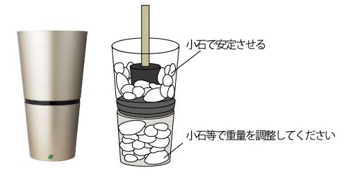 鉢の重量調整