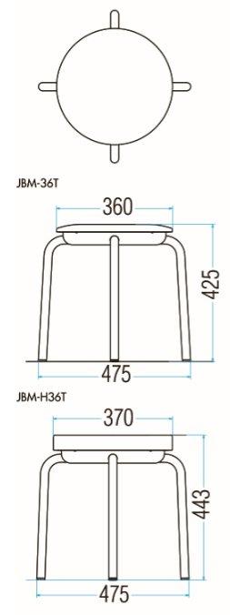 JBM-36T/JBM-H36Tの図面