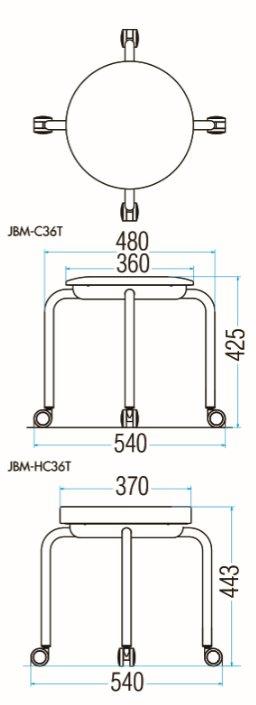 JBM-C36T/JBM-HC36Tの図面