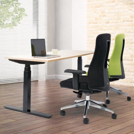 オフィスチェアCF-7_電動昇降テーブルFWD_使用例